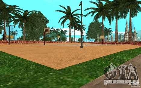 Новые текстуры баскетбольной площадки для GTA San Andreas третий скриншот