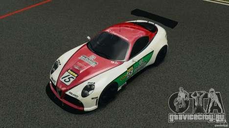 Alfa Romeo 8C Competizione Body Kit 1 для GTA 4 вид сверху