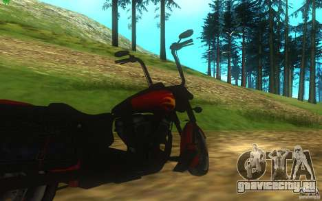 Motorcycle from Mercenaries 2 для GTA San Andreas вид сзади