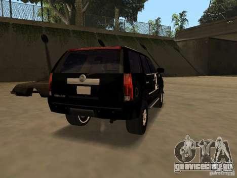 Cadillac Escalade Таллахасси для GTA San Andreas вид сзади слева
