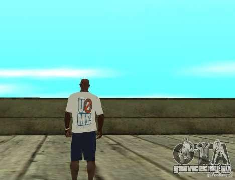 WWE футболка John Cena для GTA San Andreas второй скриншот