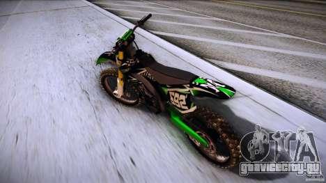 Kawasaki KLX 250S для GTA San Andreas вид сзади слева