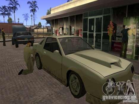Оживлённая заправка в Лос Сантос для GTA San Andreas второй скриншот