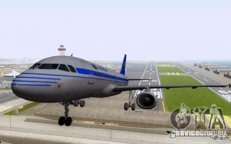 Airbus A-319 Azerbaijan Airlines для GTA San Andreas вид слева