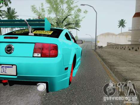 Ford Mustang GT Lowlife для GTA San Andreas вид сбоку