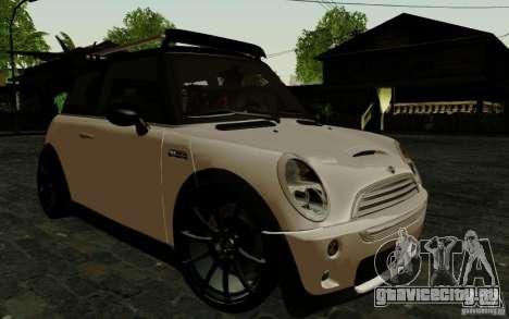 Mini Cooper S Tuned для GTA San Andreas вид сзади слева