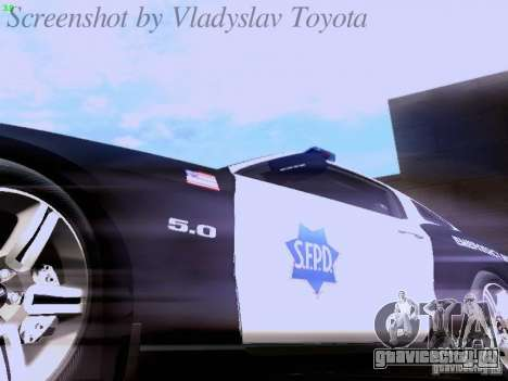 Ford Mustang GT 2011 Police Enforcement для GTA San Andreas вид сверху
