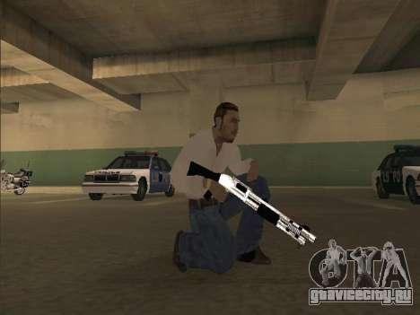 Chrome Weapons Pack для GTA San Andreas второй скриншот