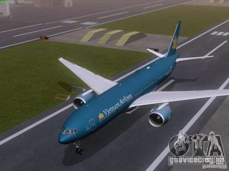 Boeing 777-2Q8ER Vietnam Airlines для GTA San Andreas вид изнутри