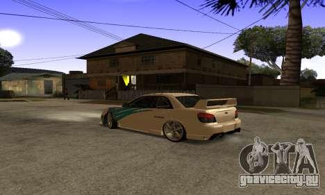 Subaru Impreza WRX STi 2006 для GTA San Andreas вид сбоку