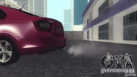 Skoda Rapid 1.6 C.R TDi 2013 V1 для GTA San Andreas вид справа