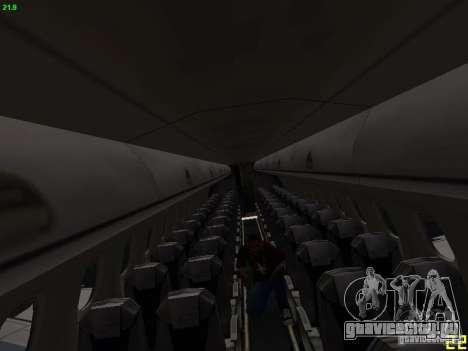 Embraer ERJ 190 USAirways для GTA San Andreas вид изнутри