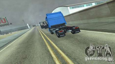 Man F2000 для GTA San Andreas вид сзади слева