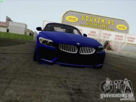 BMW Z4 2011 для GTA San Andreas вид сзади слева