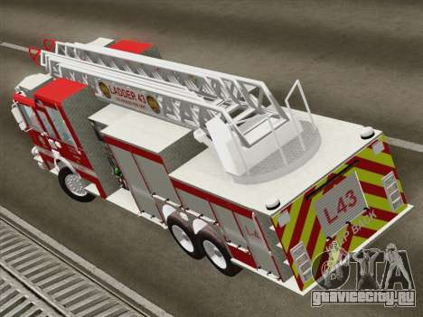 Pierce Arrow LAFD Ladder 43 для GTA San Andreas вид изнутри