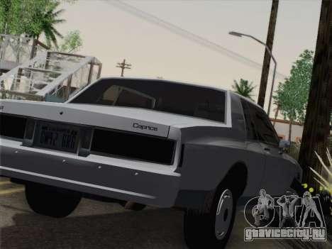 Chevrolet Caprice 1986 для GTA San Andreas вид сзади