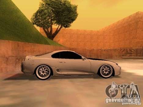 Toyota Supra GTS для GTA San Andreas вид слева