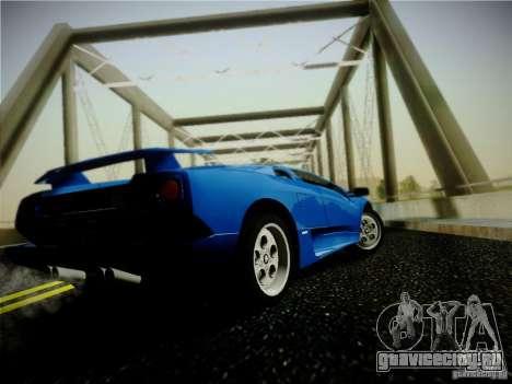 Lamborghini Diablo VT 1994 для GTA San Andreas вид сзади слева