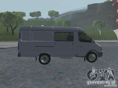 ГАЗель 2705 Грузопасажирская для GTA San Andreas вид сзади