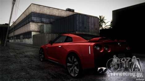 Nissan GT-R35 v1 для GTA San Andreas вид сбоку