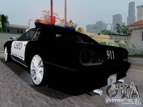 Elegy Police LS для GTA San Andreas вид справа