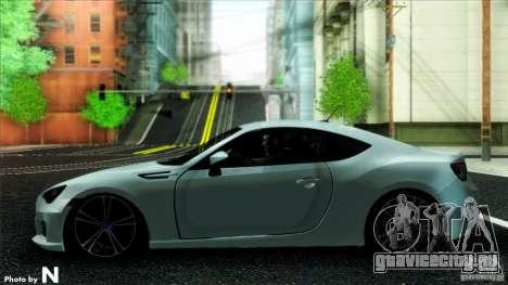 Subaru BRZ v2 для GTA San Andreas вид сзади слева