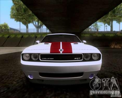 Dodge Challenger SRT8 2009 для GTA San Andreas вид изнутри