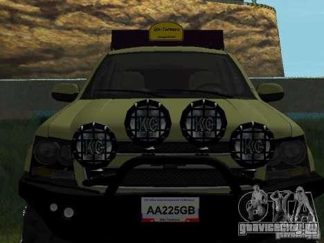 Chevrolet Tahoe Off Road для GTA San Andreas вид сзади