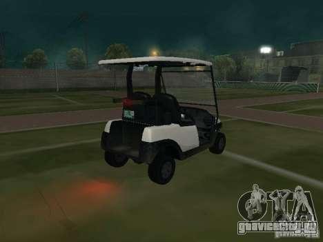 Caddy из GTA TBoGT для GTA San Andreas вид сзади слева