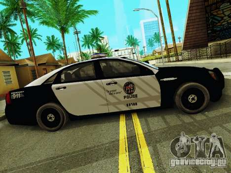 Chevrolet Caprice 2011 Police для GTA San Andreas вид слева