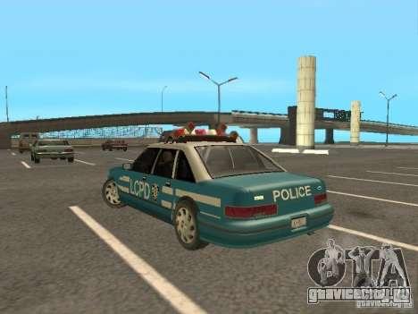 HD Police from GTA 3 для GTA San Andreas вид сзади слева