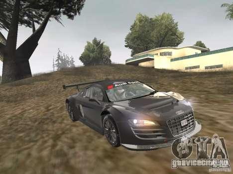 Audi R8 LMS v3.0 для GTA San Andreas вид сзади слева