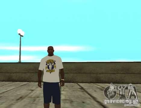 WWE футболка John Cena для GTA San Andreas