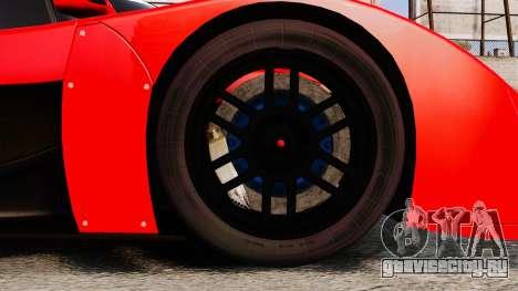Toyota GT-One TS020 для GTA 4 вид сзади