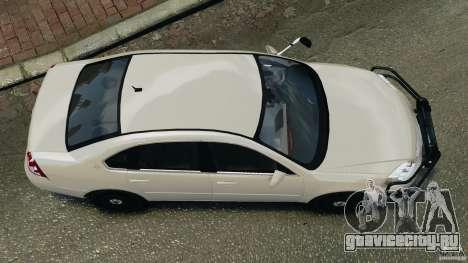 Chevrolet Impala Unmarked Detective [ELS] для GTA 4 вид справа