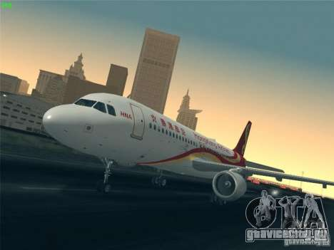Airbus A320-214 Hong Kong Airlines для GTA San Andreas вид снизу
