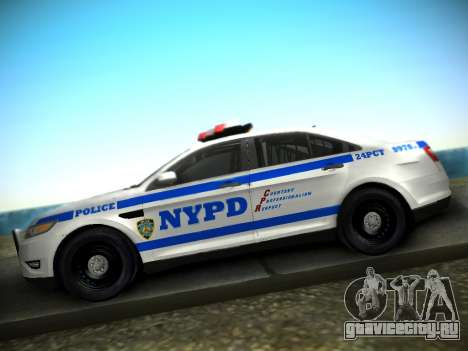 Ford Taurus NYPD 2011 для GTA San Andreas вид справа
