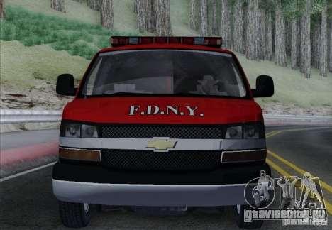 Chevrolet Express Special Operations Command для GTA San Andreas вид сверху