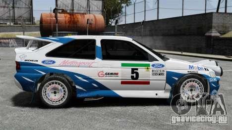 Ford Escort RS Cosworth для GTA 4 вид слева