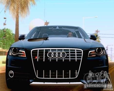 Audi S4 2010 для GTA San Andreas вид изнутри