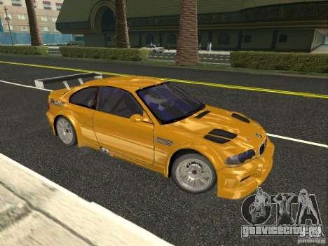 BMW M3 GTR из NFS Most Wanted для GTA San Andreas вид слева