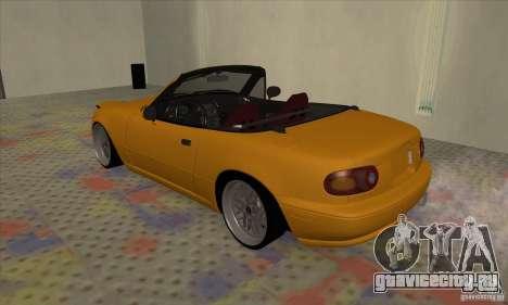 Mazda MX-5 для GTA San Andreas вид справа
