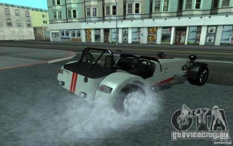 Caterham R500 для GTA San Andreas вид сзади слева