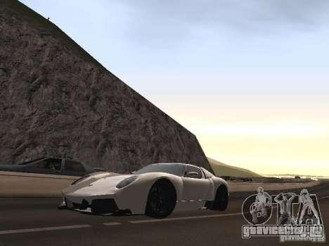 Lamborghini Miura LP670 для GTA San Andreas вид изнутри