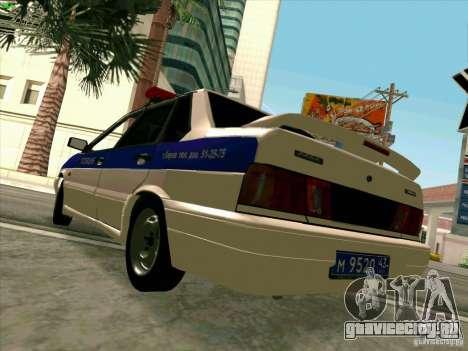 ВАЗ 2115 Полиция для GTA San Andreas вид справа
