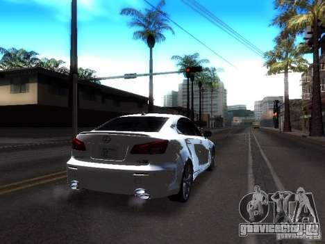 Lexus IS F для GTA San Andreas вид сзади