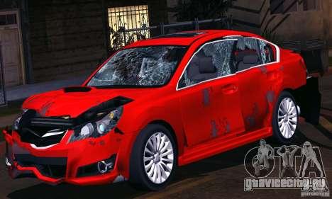 Subaru Legacy B4 2010 для GTA San Andreas салон
