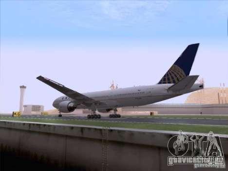 Boeing 777-200 United Airlines для GTA San Andreas вид изнутри