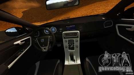 Volvo S60 Sheriff для GTA 4 вид сзади