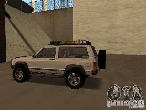 Jeep Cherokee Sport для GTA San Andreas вид справа